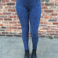 Lizard Legging  ~ Royal Blue