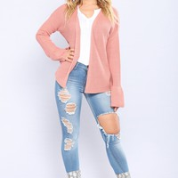 Kiss Me Soft Duster - Mauve
