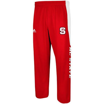 adidas North Carolina State Wolfpack Sideline Player Warm-Up Performance Pants - Red