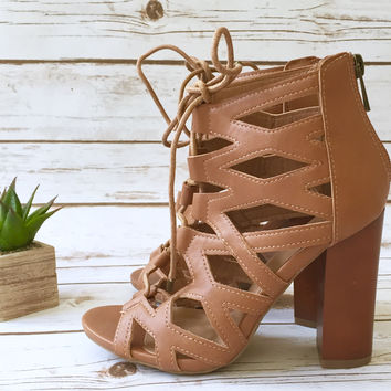 A Cutout Bootie in Almond
