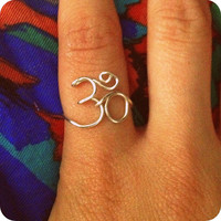 Ohm Om Aum Ring Buddhism Hinduism FREE SHIPPING