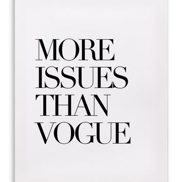 VOGUE Canvas Art By Sinan Saydik