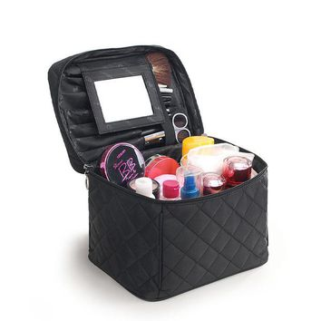 DCCKHG7 2017 Luxury Cosmetic Bag Big Professional Toiletry Bags Travel Makeup Case Beauty Necessaries Make up Storage Beautician Box