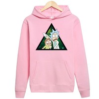 Rick And Morty Triangle Funny Streetwear Hoodie