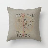 The Hunger Games Poster 02 Throw Pillow by Misery | Society6