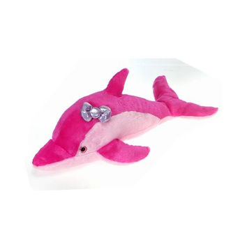 "22.5"" Pink Dolphin With Bow"