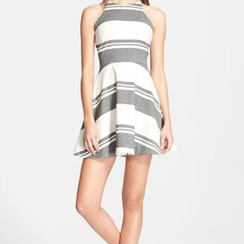 Women's Elizabeth and James 'Magdalena' Stripe Fit & Flare Dress