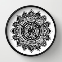 mandala Wall Clock by Haroulita