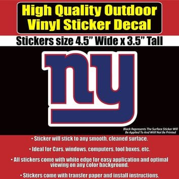 New York Giants Baseball NY Vinyl Car Window Laptop Bumper Sticker Decal