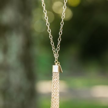 All Tangled Up Necklace-Gold