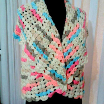Hand Crochet Bolero Shrug Capelet Jacket Cardigan Spring Summer Fall Winter Women Clothing Wedding Accessory