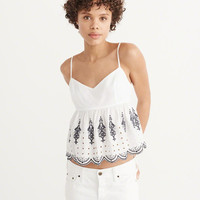 Womens Embroidered Cami | Womens Tops | Abercrombie.com