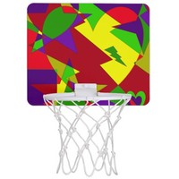 Retro Colorful Abstract Mini Basketball Hoop
