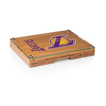 Los Angeles Lakers - 'Concerto' Glass Top Cheese Board & Tools Set by Picnic Time