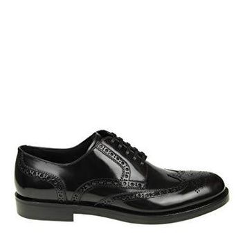 Dolce e Gabbana Men's A10350A120380999 Black Leather Lace-Up Shoes