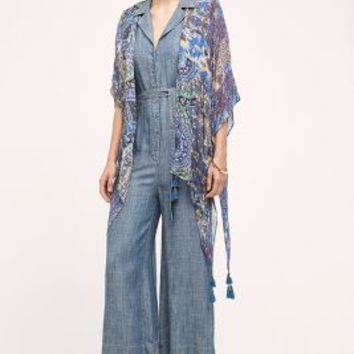 Hitomi Kimono by Anthropologie in Blue Size: One Size Tops