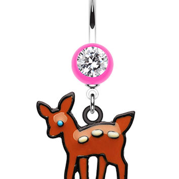 Adorable Fawn Belly Button Ring