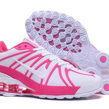 Women's Nike Shox OZ 801 KPU TPU Shoes White/Peach