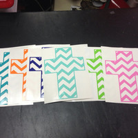 Chevron Cross Decal by christylous on Etsy