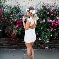 "Cambridge Lace Dress ""Cap Sleeve"" -White RESTOCK"