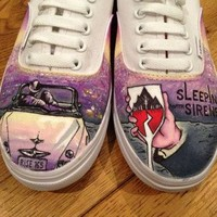 Custom Sleeping with Sirens Canvas Shoes - Vans, Toms, converse style