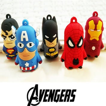 The Avengers Alliance Keyrings Anime Keychain Of Superhero Superman Captain America Batman Spiderman Ironman Key Chains Holder