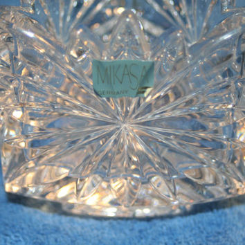Mikasa Crystal Candle Holder,Collectible Vintage,Castawayacres