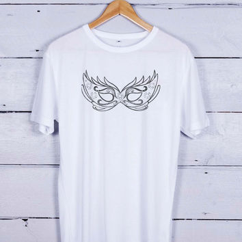 Dove Mask Art Tshirt T-shirt Tees Tee Men Women Unisex Adults