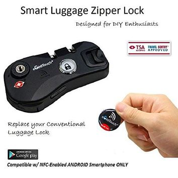 eGeeTouch NFC Smart Luggage Zipper Lock, Instantly Transform your old luggage to Smart Luggage (Matt Black)