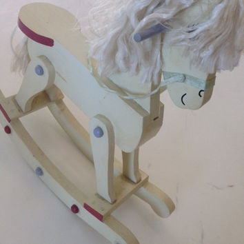 wood rocking horse vintage for your nursery