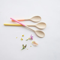 Mother's Day Gift Collection: Wooden Spoons Set of Three by Willful, pastel