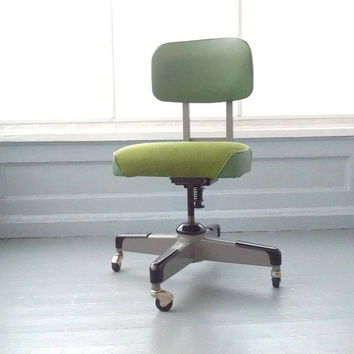Mid Century Modern, Industrial, Tanker, Office Chair