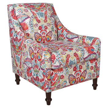 Holmes Armchair, Red Multi Floral, Accent & Occasional Chairs