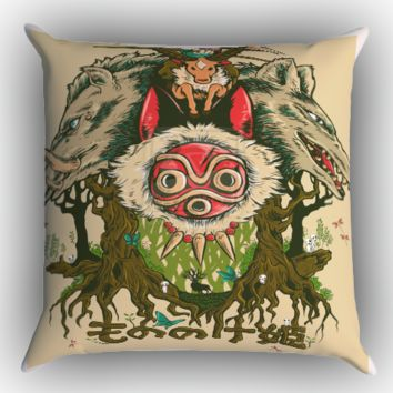 princess mononoke poster X0782 Zippered Pillows  Covers 16x16, 18x18, 20x20 Inches