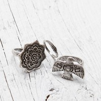 With Love From CA Bird Ring Set - Womens Jewelry - Silver