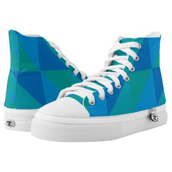 triangle colored abstract printed shoes