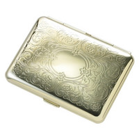 MG Gifts - Double - Sided Gold Cigarette Case For 14 Of 80