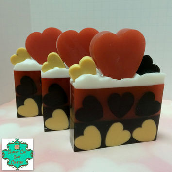 Queen of Hearts inspired soap bar - Limited Edition - Alice in Wonderland inspired, Shea Butter soap, Handmade soap, Valentine soap