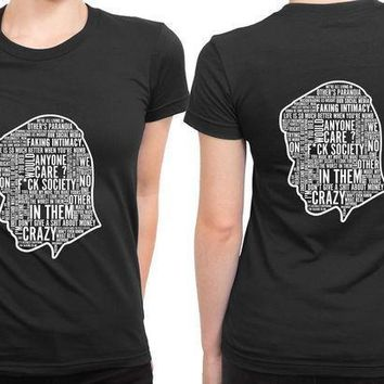 Mr Robot Quote Silhouette 2 Sided Womens T Shirt