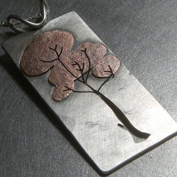 Reversible Layered Foliated Tree no2 Copper and by BethMillner