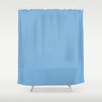 Monochrome collection Blue Shower Curtain by ArtGenerations