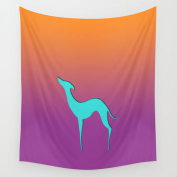 Greyhound Wall Tapestry by EDrawings38
