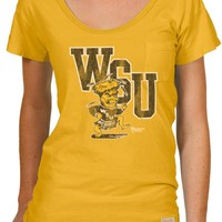 Wichita State Shockers Original Retro Brand T-Shirt - Shockers Gold Pocket Short Sleeve V-Neck