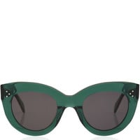Celine Green Caty Acetate Sunglasses | Women's Sunglasses by Celine | Liberty.co.uk