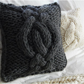 IN STOCK- Twisted Cable Knit Pillow