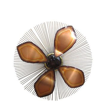 Pre-owned Mid-Century Sunburst Wall Art Sculpture