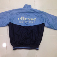 vintage 90s ELLESSE wind up tenis jacket / windbreker / warm up / zipper jacket / hip hop style jacket
