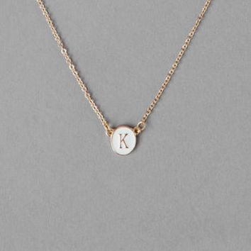 """K"" INITIAL PENDANT NECKLACE"