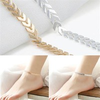 Fishbone Chain Anklets