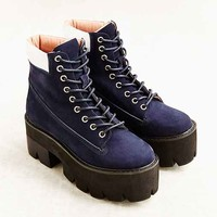 Jeffrey Campbell Nirvana Boot- Navy 8